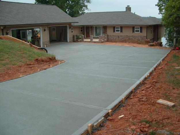 Atlanta driveways and concrete gravel asphalt for Cement driveway ideas